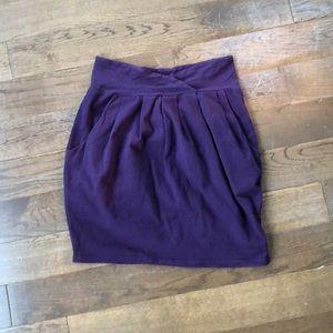 Silence + Noise purple tulip mini-skirt w pockets